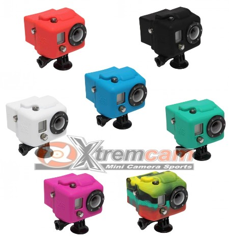housse silicone xsories pour camera gopro hd bacpac