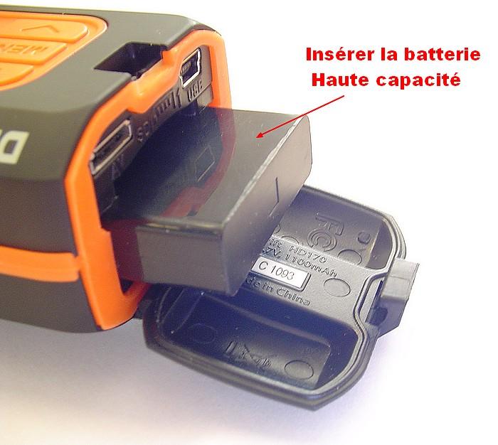 batterie haute capacit pour cam ra drift hd 170. Black Bedroom Furniture Sets. Home Design Ideas