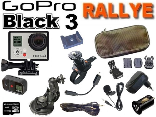 Cam�ra GoPro HD Hero 3 Black Edition Pack RALLYE