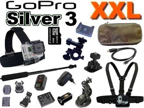 Cam�ra GoPro HD Hero 3 Silver Edition Pack XXL