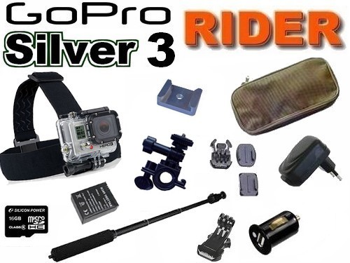 Cam�ra GoPro HD Hero 3 Silver Edition Pack RIDER