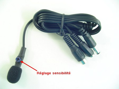 Microphone 12V � gain ajustable