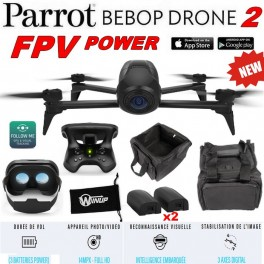 Drone Parrot Bebop 2 POWER FPV + Sac Transport + Etui